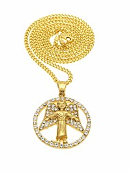 cheap -Women's Cubic Zirconia Stylish / Cuban Link Pendant Necklace / Chain Necklace - Angel Wings Unique Design, European, Hip-Hop Gold 60 cm Necklace 1pc For Gift, Street