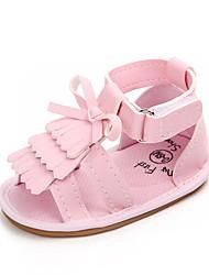Недорогие -Девочки Обувь Полиуретан Лето Обувь для малышей Сандалии С кисточками / На липучках для Дети Золотой / Белый / Розовый