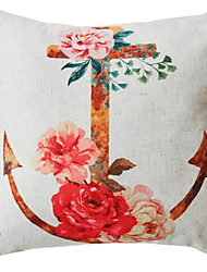 cheap -1 pcs Cotton / Linen / Polyester Pillow Case, Floral Print Flower