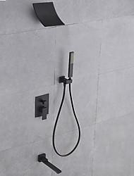 Недорогие -Смеситель для душа - Современный Живопись Монтаж на стену Медный клапан