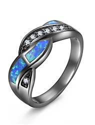 cheap -Women's Opal / Synthetic Opal Hollow Statement Ring / Promise Ring - Gold Plated Vintage, Gothic, Gypsy 6 / 7 / 8 Light Blue For Halloween / Gift