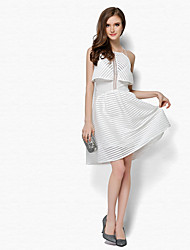 cheap -Women's A Line Dress - Striped Strapless