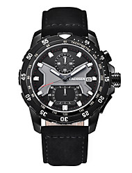 cheap -CADISEN Men's Sport Watch Chinese Calendar / date / day / Stopwatch / Noctilucent PU Band Fashion Black / Large Dial / Sony SR920SW / Two Years