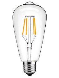 cheap -HRY 1pc 4W 360lm E26 / E27 LED Filament Bulbs ST64 4 LED Beads COB Decorative Warm White Cold White 220-240V