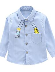 baratos -bebê Para Meninos Azul e Branco Sólido Manga Curta Camiseta