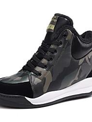 economico -Per donna Scarpe Sintetico Autunno inverno Comoda Sneakers Zeppa Verde militare