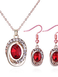 cheap -Women's Twisted Jewelry Set - European, Fashion, Elegant Include Necklace / Earrings Purple / Red / Blue For Daily / Evening Party