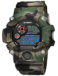 cheap -SYNOKE Men's Sport Watch / Digital Watch Calendar / date / day / Chronograph / Water Resistant / Water Proof PU Band Fashion Blue / Red / Green / Stopwatch / Noctilucent