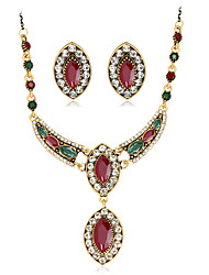 cheap -Women's Retro / Stylish Jewelry Set - Creative Stylish, European Include Drop Earrings / Necklace Red / Green For Wedding / Daily