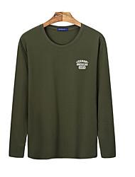 billige -Herre - Ensfarvet / Bogstaver Trykt mønster T-shirt