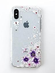 Недорогие -Кейс для Назначение Apple iPhone X / iPhone 8 Своими руками Кейс на заднюю панель Сияние и блеск Мягкий ТПУ для iPhone X / iPhone 8 Pluss / iPhone 8