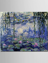 abordables -Peinture à l'huile Hang-peint Peint à la main - Paysage / Nature morte Moderne Toile