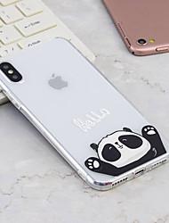 economico -Custodia Per Apple iPhone X / iPhone 8 Plus Fantasia / disegno Per retro Panda Morbido TPU per iPhone X / iPhone 8 Plus / iPhone 8