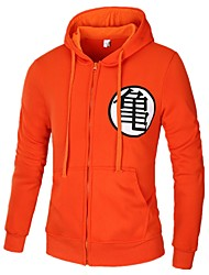 cheap -Men's Basic Hoodie - Solid Colored / Color Block / Letter