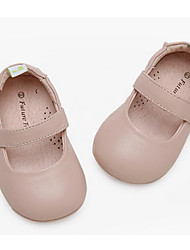 Недорогие -Девочки Обувь Кожа Лето Детская праздничная обувь На плокой подошве для Дети Черный / Красный / Розовый