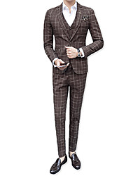 cheap -Men's Business Suits-Houndstooth