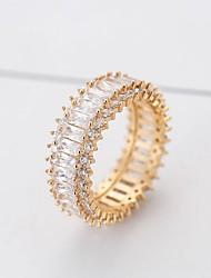 billiga -Dam Syntetisk Diamant Lasso Ring - Koppar Stilig, Klassisk 6 / 7 / 8 / 9 Guld / Silver Till Dagligen