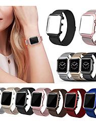 economico -Cinturino per orologio  per Apple Watch Series 4/3/2/1 Apple Cinturino a maglia milanese Acciaio inossidabile Custodia con cinturino a strappo
