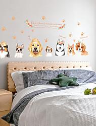 Недорогие -Декоративные наклейки на стены - Наклейки для животных Животные Гостиная / Спальня / Ванная комната