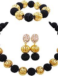 Недорогие -Жен. Одинарная цепочка Комплект ювелирных изделий - MOON Мода Включают Цепочка Зеленый / Розовый / Ярко-розовый Назначение Свадьба