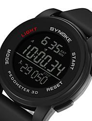 Недорогие -SYNOKE Муж. Спортивные часы / электронные часы Календарь / Секундомер / Защита от влаги силиконовый Группа На каждый день Черный / Серый / Темно-синий / С двумя часовыми поясами / Фосфоресцирующий