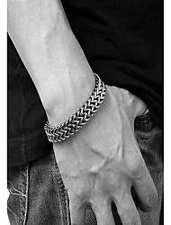 cheap -Men's Thick Chain / Double Twine Chain Bracelet - Stainless Snake Vintage, Punk Bracelet Black For Daily / Work