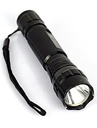 abordables -Linternas LED LED 2000 lm 1 Modo de Iluminación Portátil / Profesional / Anti golpe Camping / Senderismo / Cuevas / De Uso Diario / Ciclismo Negro