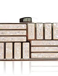Недорогие -Жен. Мешки Акрил / Сплав Вечерняя сумочка Кристаллы Белый / Черный / Миндальный