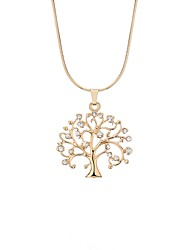cheap -Women's Cubic Zirconia Rope Pendant Necklace - Rhinestone Tree of Life British, Oversized, Hippie Gold, Silver 47 cm Necklace 1pc For New Year, Birthday