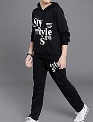 abordables -Enfants Garçon Basique / Chic de Rue Sports Imprimé Imprimé Manches Longues Coton Ensemble de Vêtements