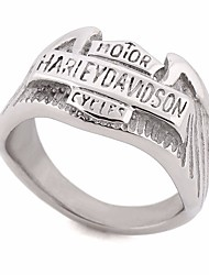 cheap -Couple's Vintage Style / Stylish Ring - Stainless Letter Stylish, European, Hip-Hop 7 / 8 / 9 Silver For Street / Club