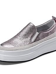 abordables -Femme Chaussures Daim Printemps été Confort Mocassins et Chaussons+D6148 Creepers Rose / Vert clair