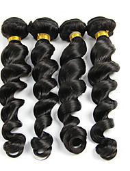 cheap -4 Bundles Malaysian Hair Loose Wave Human Hair Extension / Human Hair Extensions 8-28 inch Black Natural Color Human Hair Weaves Machine Made Soft / Classic / Woven Human Hair Extensions Unisex