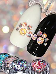 baratos -4 pcs Jóias de Unhas Luminoso arte de unha Manicure e pedicure Casamento / Festa / Dia a Dia Metálico / Brilho & Glitter