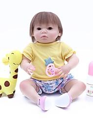 Недорогие -OtardDolls Куклы реборн Кукла для девочек Девочки 18 дюймовый как живой Ручная работа Искусственная имплантация Коричневые глаза Детские Девочки Игрушки Подарок
