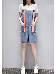 economico -Per donna Moda città Jeans / Tuta da lavoro Pantaloni - Tinta unita