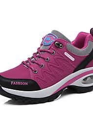 Недорогие -Жен. Обувь Синтетика Наступила зима Удобная обувь Спортивная обувь Для фитнеса На плоской подошве Серый / Лиловый / Пурпурный