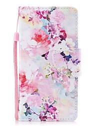 cheap -Case For Huawei P8 Lite Wallet / Card Holder / Flip Full Body Cases Flower Hard PU Leather for P8 Lite (2017) / Huawei P8 Lite