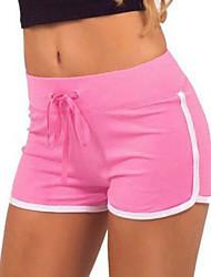 economico -Per donna Vita alta Taglia piccola Pantaloni della tuta / Pantaloncini Pantaloni - Tinta unita / A strisce