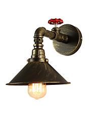 baratos -Tubo industrial do vintage luzes de parede de metal sombra restaurante café bar arandelas de parede 1-luz pintado acabamento