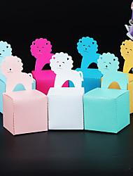Недорогие -Кубический Розовая бумага Фавор держатель с Узоры / принт Подарочные коробки