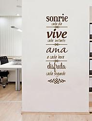 Недорогие -Декоративные наклейки на стены - Простые наклейки Персонажи Гостиная / Офис