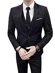cheap -men's suits-solid colored shirt collar