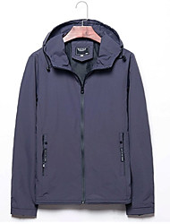cheap -Men's Basic Jacket - Solid Colored