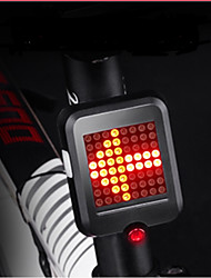 cheap -Rear Bike Light / Safety Light / Safety Reflectors LED Bike Light LED Cycling Waterproof, Portable, Cool USB 80 lm USB Red Cycling / Bike - INBIKE / ABS / Multiple Modes
