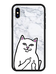 abordables -Coque Pour Apple iPhone X / iPhone 8 Plus Motif Coque Bande dessinée / Marbre Dur Acrylique pour iPhone X / iPhone 8 Plus / iPhone 8