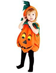 Недорогие -Косплей Костюм Мальчики Детские Хэллоуин Хэллоуин Карнавал День детей Фестиваль / праздник Полиэстер Инвентарь Желтый Однотонный Halloween