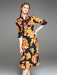 abordables -Mujer Corte Sirena Vestido Fruta Asimétrico