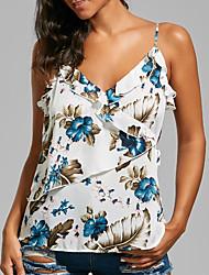 cheap -women's cotton tank top - floral strap