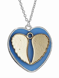 cheap -Women's Luminous Stone Long Pendant Necklace - Heart Vintage, Ethnic, Fashion Blue 45+5 cm Necklace 1pc For Evening Party, Birthday